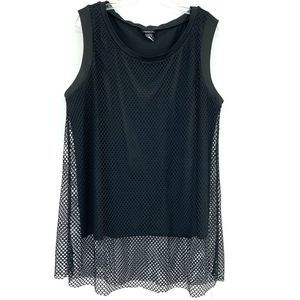 Torrid Fishnet Mesh Tunic Tank Top Plus Goth